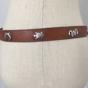 Leggings Silver Greek Collection Leather Belt